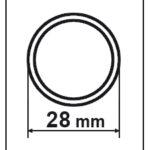 disegno tecnico tubo in carbonio CarboSix diametro 28mm