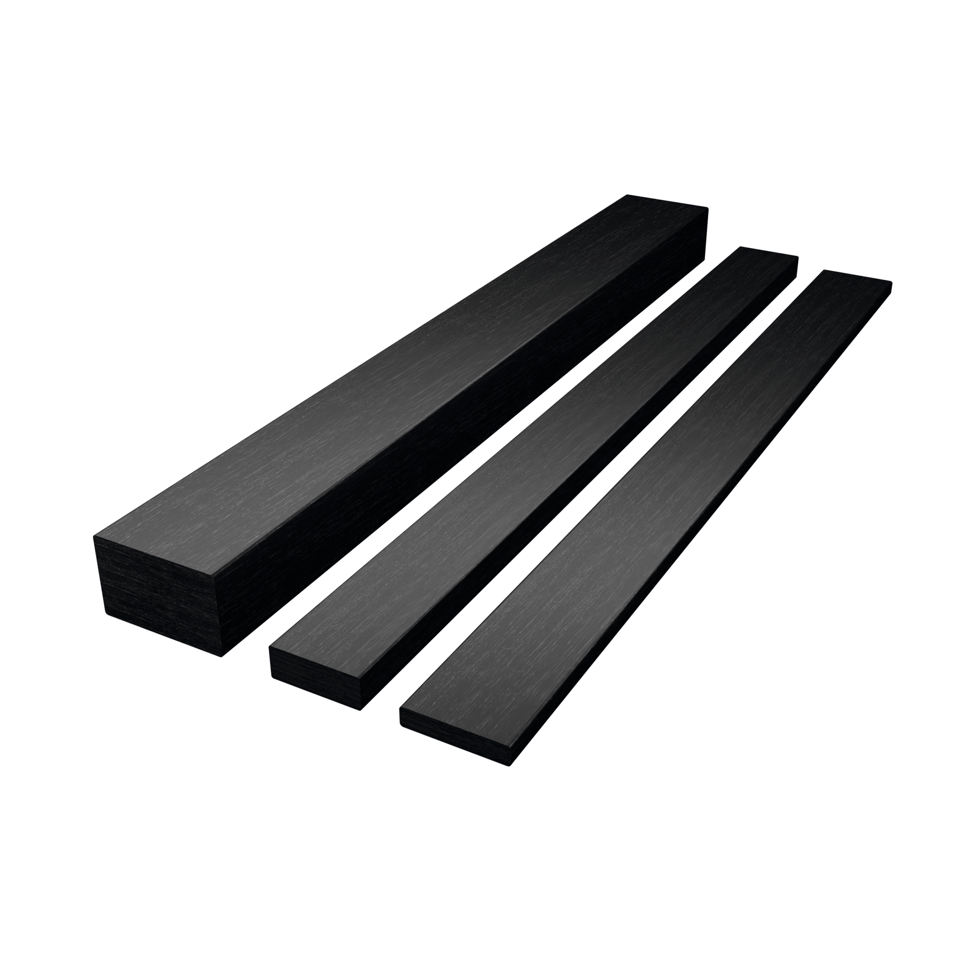 CarboSix Barre rettangolari in fibra di carbonio