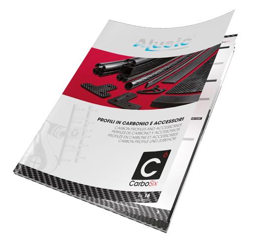 CarboSIX catalogo profili tubi barre lastre carbonio